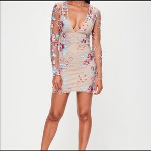NWT Nude bodycon dress